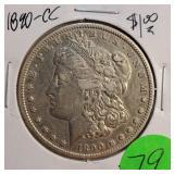 SILVER 1890-CC MORGAN DOLLAR (79)