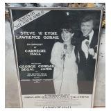 63 - FRAMED EYDIE GORME & STEVE LAWRENCE POSTER