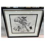 63 - SIGNED & FRAMED COMIC ART OF MONSOON