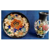 62 - BEAUTIFUL SIGNED POTTERY VASE & PLATE