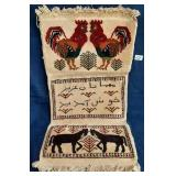 62 - BEAUTIFUL ROOSTER & HORSE TOWEL/DECOR