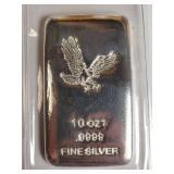 10oz .9999 FINE SILVER BAR (B)
