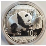 (46) - 30 GR .999 FINE SILVER PANDA COIN