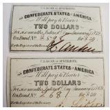 (81) - CONFEDERATE STATES OF AMERICA $2 BILLS