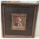 63 - FRAMED ART W/ KAYE BALLARD GIFT NOTATION