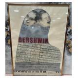 63 - FRAMED GERSHWIN POSTER