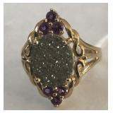 10KT YELLOW GOLD AMETHYST RING 3.80 GRS