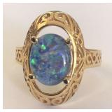 14KT YELLOW GOLD OPAL RING 5.70 GRS