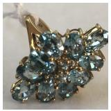 10KT YELLOW GOLD TOPAZ RING 4.70 GRS