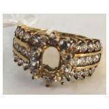 10KT YELLOW GOLD SEMI MOUNT DIAMOND RING 3.20 GRS