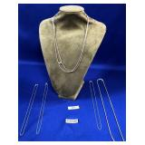 63 - LOT OF 5 STERLING SILVER NECKLACES