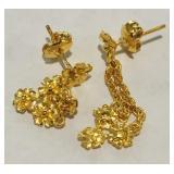 24KT GOLD EARRINGS 4.10 GRS