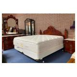 232 - KING SIZE BEDROOM SUITE -BED;MARBLE TOP DRES