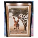 175 - L.E. SIGNED & NUMBERED GIRAFFES PRINT