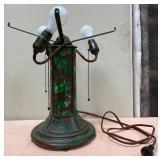 714 - TIFFANY STUDIOS NEW YORK GREEN LAMP