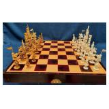60 - STUNNING ASIAN THEAMED CHESS SET