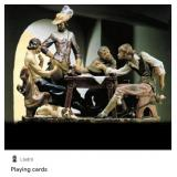 """LLADRO PLAYING CARDS FIGURINE 21""""H"""