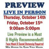 PREVIEW LIVE IN PERSON - Thursday & Friday