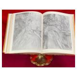 63 - BEAUTIFUL BRASS BOOKSTAND W/ ART BOOK