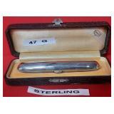 63 - STERLING SILVER CIGAR CASE