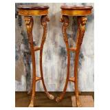 """11 - PAIR OF 49""""H PLANT/ART STANDS"""