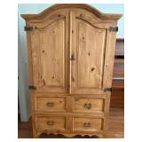 58 - SOLID WOOD ARMOIRE