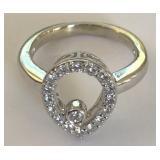 14KT WHITE GOLD DIAMOND RING 3.80 GRS