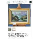 "THOMAS KINKADE ""SIMPLER TIMES I"" 289/345 A/P CANVA"