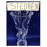 "63 - STEUBEN GLASS VASE11""H"