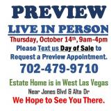PREVIEW LIVE IN PERSON - Thursday, October 14th