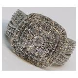 10KT WHITE GOLD 1.85CTS DIAMOND RING