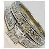 14KT WHITE GOLD 2.75CTS DIAMOND RING FEATURES