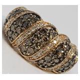 10KT ROSE GOLD 1.58CTS DIAMOND RING