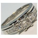 14KT WHITE GOLD 1.05CTS DIAMOND RING