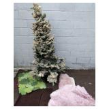 "903 - ARTIFICIAL CHRISTMAS TREE (70""), RUGS, MAT"