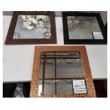 43 - NEW MWC LOT OF 3 FRAMED WALL MIRRORS