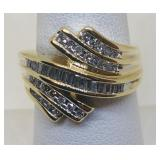 10KT YELLOW GOLD .50CT DIAMOND RING 4.90 GRS