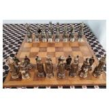 809 - CHESS SET, CRIBBAGE, WOOD PUZZLE  MORE