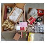 809 - 2 BOXES OF HOLIDAY ORNAMENTS