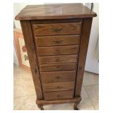 809 - 8-DRAWER WOOD JEWELRY CABINET