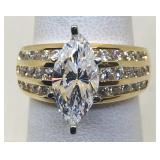 14KT YELLOW GOLD CZ RING 5.20 GRS