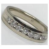 14KT WHITE GOLD .70CTS MENS DIAMOND RING