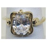 14KT YELLOW GOLD CZ RING 3.80 GRS