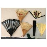 809 - LOT OF 6 LADIES HAND FANS