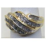10KT YELLOW GOLD .50CTS DIAMOND RING 4.80 GRS