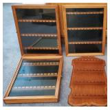 809 - LOT OF 4 SPOON COLLECTION CABINETS