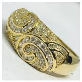 14KT YELLOW GOLD 1.01CTS DIAMOND RING
