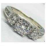 14KT WHITE GOLD 1.33CTS DIAMOND RING