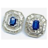 14KT WHITE GOLD 3.00CTS SAPPHIRE AND 1.75CTS DIA.