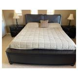 35 - STUNNING PLATFORM BED WITH NIGHTSTANDS